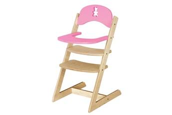 Accessoires de poupées Jb Bois Chaise haute nounours en bois