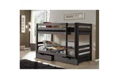 Lits Superposes Vipack Pino Lit Enfant Superpose Gris Darty