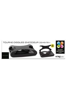 TD99 Noir Tourne disques 3 vitesses - Encodeur intégré - Port USB - Radio FM - Affichage rétroéclair