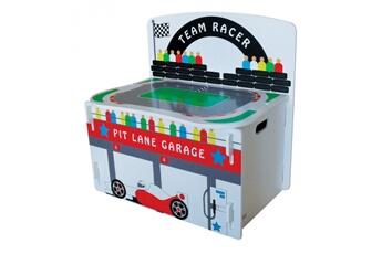 Coffre à jouets Kidsaw Aire de jeu de course F1 coffre à jouet en bois 3 en 1