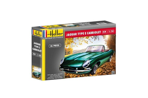 Maquette Maquette Voiture : Jaguar type E 3L8 OTS Cabriolet Heller