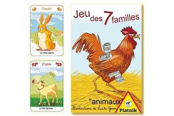 Jeux en famille Piatnik Jeu de 7 familles animaux : ferme