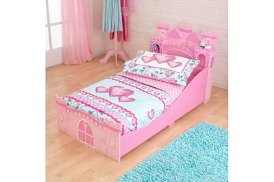 lit enfant kidkraft lit ch teau de princesse 70 x 140 cm. Black Bedroom Furniture Sets. Home Design Ideas