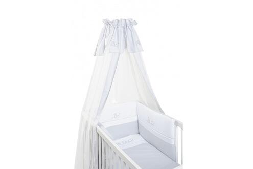 moustiquaire mli mlo voile de lit et berceau abc gris blanc en coton