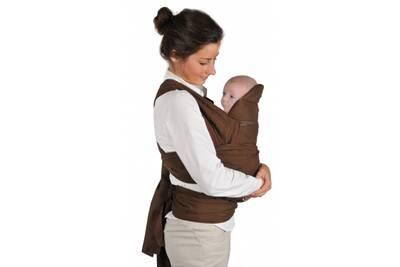 Porte bébé TINEO Echarpe de portage chocolat   Darty 9c6562666a7