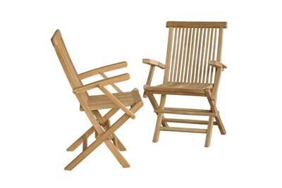 Chaise et fauteuil de jardin Bois Dessus Bois Dessous Lot de 2 ...