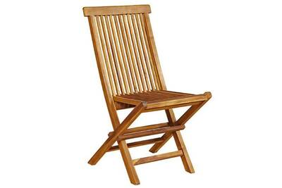 chaise de jardin en bois de teck huile pliante