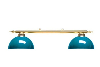 Luminaire Canopy laiton 2 globes Bleu