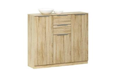 buffet bahut maisonetstyles enfilade 3 portes et 2 tiroirs coloris chne bross - Enfilade 3 Portes