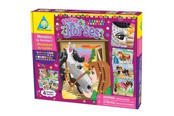 Peinture et dessin AU SYCOMORE Mosaïque au numéro sticky : chevaux