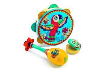 Jeux d'imitation Djeco Set de tambourin/castagnette/maracas Animambo