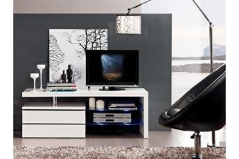 meuble tv - Meuble Tv Blanc Brillant But