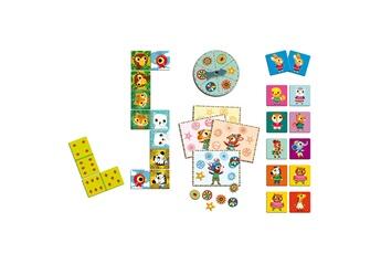 Jeux ludo éducatifs Djeco Bingo Mémo Domino Les p'tits copains
