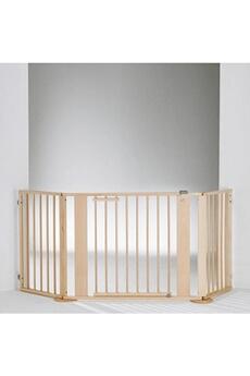 Barrière de sécurité bébé Geuther Barrière pare-feu à configurer Bois 100 x 180 cm Naturel/argentée