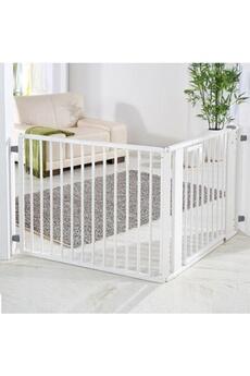 Barrière de sécurité bébé Geuther Barrière pare-feu à configurer 120 x 180 cm Blanc/Blanc