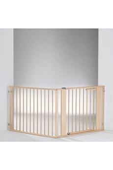 Barrière de sécurité bébé Geuther Barrière pare-feu à configurer Bois 120 x 180 cm Naturel/argentée