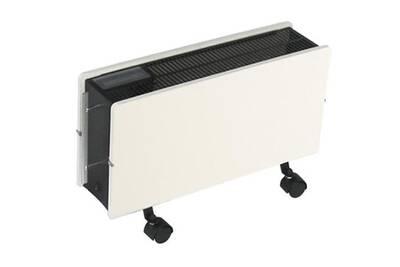 Panneau Rayonnant Valderoma Radiateur A Inertie Mobile 1600w Smart Optimus Blanc Cachemire Darty