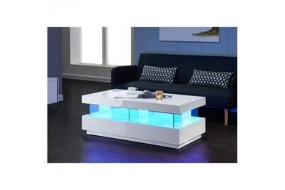 Table basse usines discount light table basse 120cm laqu e Table basse multicolore