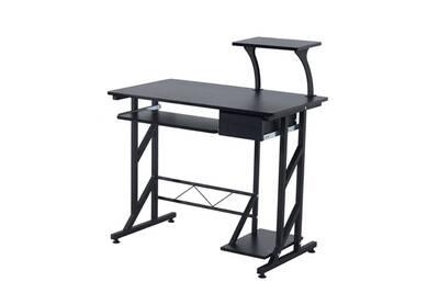 bureau homcom bureau informatique design en mdf 90 l x 50 i x 95h cm noir 18bk darty. Black Bedroom Furniture Sets. Home Design Ideas