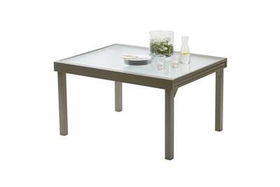 Table de jardin Wilsa Table de jardin 135/270 MODULO 10 TAUPE | Darty