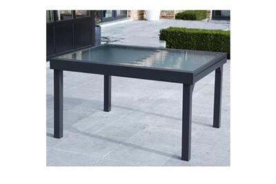 Table de jardin 135/270 MODULO 10 PLACES GRISE