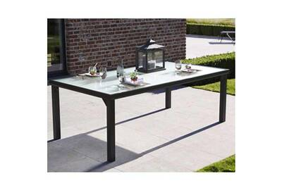 Table de jardin BLACKSUN 8 PLACES NOIRE