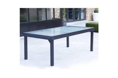Table de jardin Wilsa Table de jardin 200/320 MODULO 12 PLACES GRISE ...