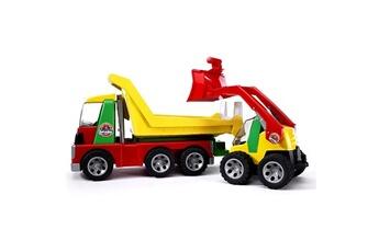Jeux d'imitation Bruder Camion Roadmax avec chargeur