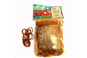 Jeux ludo éducatifs Rainbow Loom Rainbow Loom : Recharge élastiques : Bordeaux marron