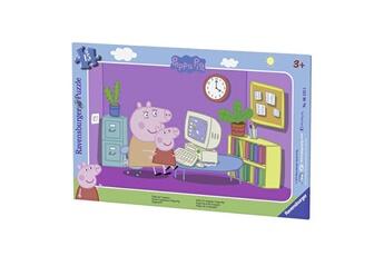 Puzzles RAVENSBURGER Puzzle cadre 15 pièces : peppa pig devant l'ordi