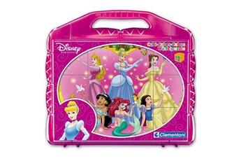 Puzzles CLEMENTONI Malette 12 cubes disney : princesse disney