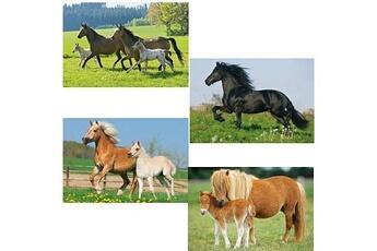 Puzzles Schmidt Spiele Puzzle 26 et 48 pièces - coffret 4 puzzles : chevaux