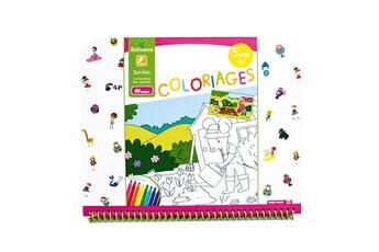 Peinture et dessin AU SYCOMORE Cahier de coloriages : jardin