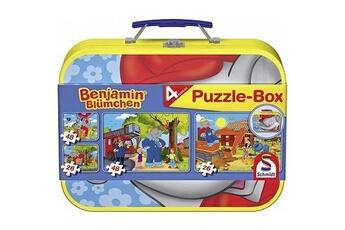 Puzzles Schmidt Spiele Puzzle 26 et 48 pièces - coffret 4 puzzles : benjamin l'éléphant