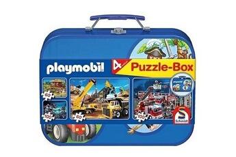 Puzzles Schmidt Spiele Puzzle 320 pièces - valise playmobil : 4 puzzles