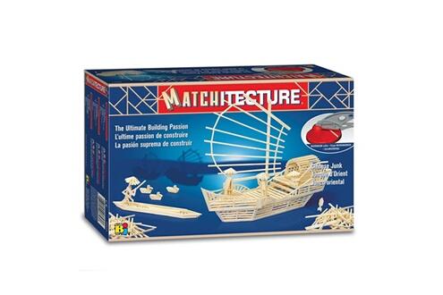 Maquette en allumettes : Matchitecture : Jonque Chinoise