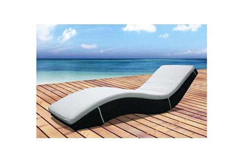 rocambolesk magnifique bain de soleil transat en rsine tresse avec matelas - Transat Soleil