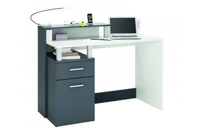 Bureau rocambolesk multimedia 1 porte 1 tiroir oracle for Bureau multimedia blanc