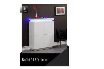 Buffet Bahut Usines Discount Flash Buffet Haut Blanc Laque Avec