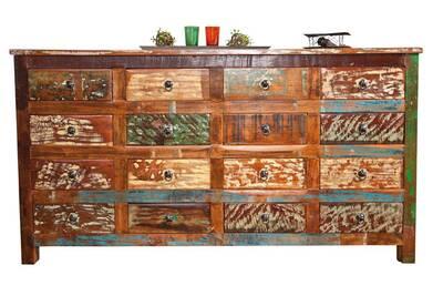 Commode Bahut Buffet Console A Tiroirs Meuble De Salon Salle A Manger Manguier