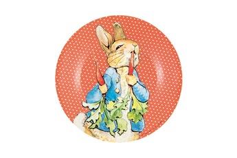 Vaisselle bébé Petit Jour Paris Asiette dessert pierre lapin : les radis, c'est délicieux