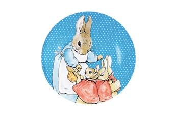Vaisselle bébé Petit Jour Paris Assiette à dessert pierre lapin : maman lapin et ses trois filles