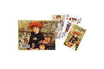 Jeux de cartes Piatnik Jeu de cartes : Coffret de 2 x 55 cartes : Renoir : Chapeau rouge