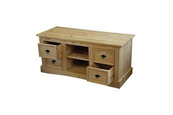 tout le choix darty en meuble tv de marque meubles en pin pas cher darty. Black Bedroom Furniture Sets. Home Design Ideas