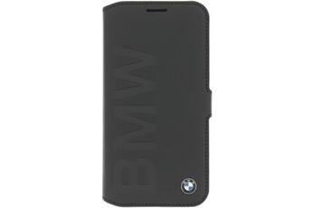 Coque smartphone Etui folio à rabat BMW cuir noir avec logo métal pour  Galaxy S6 SM d5a04954f15f