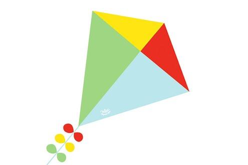 VILAC Cerf-volant losange : Bleu, vert, rouge et jaune