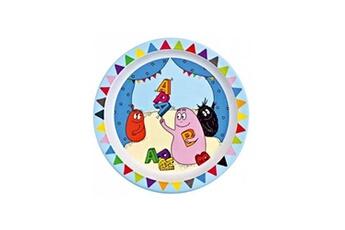 Vaisselle bébé PETIT JOUR Assiette Melamine Barbapapa Alphabet
