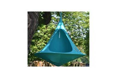 Hamac Cacoon Cacoon Double Fauteuil Suspendu Tente Turquoise Darty
