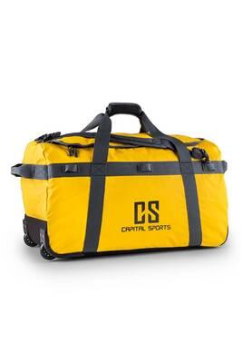 ramassé matériaux de qualité supérieure beau look Journ Sac de voyage 90l Sac à dos & trolley imperméable -jaune