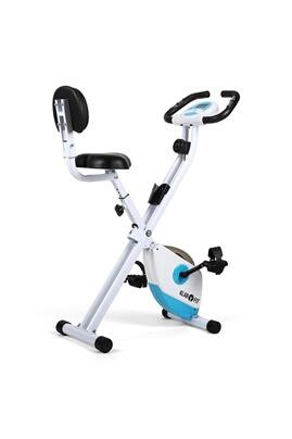 X-bike 700 vélo d'appartement ergomètre pulsomètre pliable -bleu/blanc